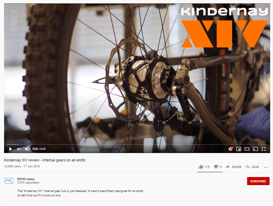 eMTB videos - review of Kindernay XIV internal gear hub